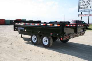New 14 x 83 Bumper Pull Hydraulic Dump Trailer with 7K Axles