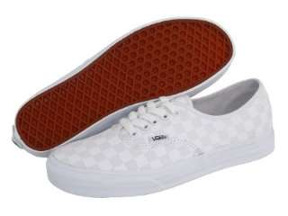Vans Authentic True White Checkerboard Shoes New In Box