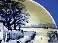 d959 Vintage Royal Delft Wall Plate Westraven SEPTEMBER