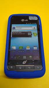 NET10 LG Optimus Net ANDROID HIGH QUALITY BLUE SILICONE CASE