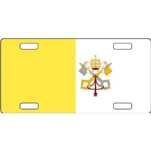 Vatican City State Flag Vanity License Plate Everything