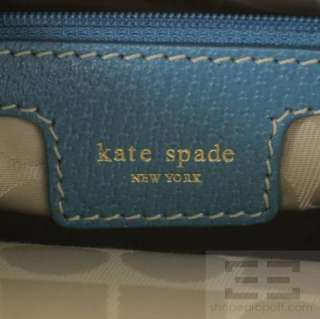 Kate Spade Blue Pebbled Leather Tote Bag NEW