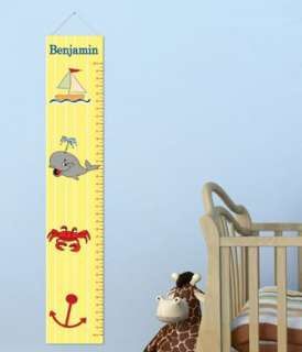 KIDS CHILDS GROWTH CHART HEIGHT Measuring WALL CANVAS Banner