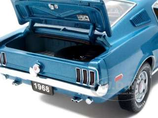 24 scale diecast car model of 1968 ford mustang gt fastback aqua 1