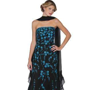 Dress. Black Evening Gown. Womens Long Evening Gown. Prom Dress