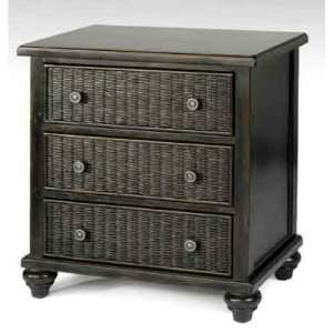 White Craft M215703 Cabbage Three Drawers Chest in