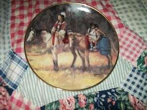 AMERICAN INDIAN HERITAGE SIGNED FRANKLIN MINT PLATE JOURNEY HOME