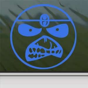 Smile Face Eddie Iron Maiden Band Blue Decal Car Blue