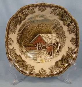 THE FRIENDLY VILLAGE SQUARE CEREAL BOWL JOHNSON BROS (O