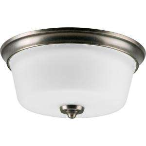 Progress Lighting Lahara Collection Aged Pewter 2 Light Flushmount