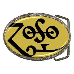 ZOSO Led Zeppelin Jimmy Page Belt Buckle Great Gift