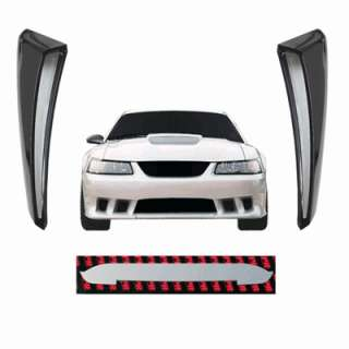 01 04 FORD MUSTANG CHROME HOOD & SIDE SCOOP INSERTS FMS