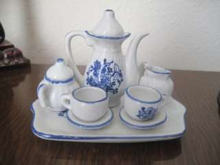 Beautiful Andrea by Sadek Doll House Miniature Tea Set For Two