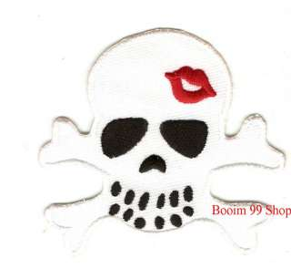 Skull Logo EMBROIDERED Iron Patch T Shirt Sew Cloth