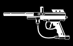 Paintball Gun Vinyl Car Window Decal Bumper Sticker