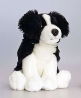 Puppy SITTING DOG BORDER COLLIE 30cm Soft Toy KEEL TOYS