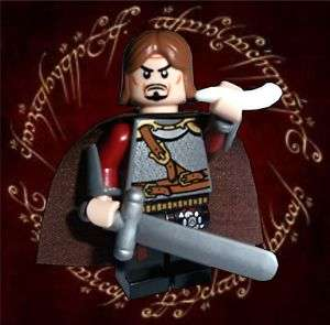Lego FANTASY LORD OF THE RINGS Minifigure BOROMIR & HORN