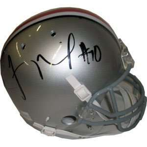 Troy Smith Signed Buckeyes Full Size Replica Helmet