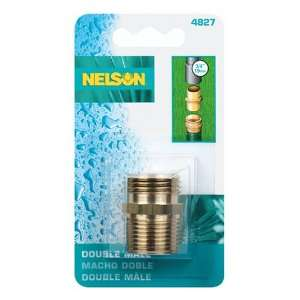 Nelson Machined Brass Pipe and Hose Fitting, Double Male
