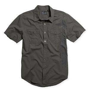 Fox Racing Quest Woven Shirt   Medium/Charcoal Automotive