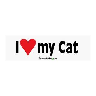 I Love My Cat   Refrigerator Magnets 7x2 in Automotive