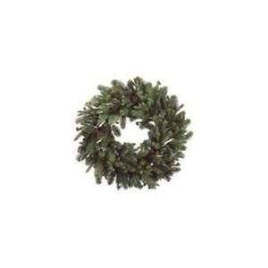 30 Noble Fir Artificial Christmas Wreath with Pine Cones   Unlit