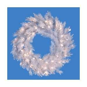 Designer Artificial Christmas Wreath   Clear Lights