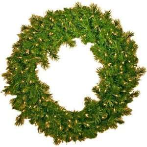 Tidings ED 416 24 Artificial Eddington Spruce Prelit Christmas Wreath