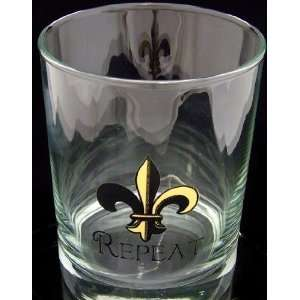 Who Dat Repeat Double Old Fashioned Glass Set Of 4 Gift Boxed