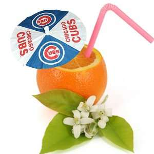 Chicago Cubs MLB 3 Paper Drink Umbrellas (Set of 24)
