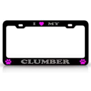I LOVE MY CLUMBER Dog Pet Animal High Quality STEEL /METAL