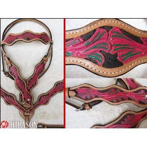 Horse Bridle Headstall Breast Collar & Reins Pa458