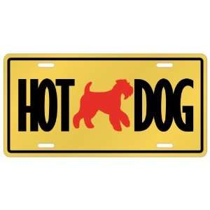 New  Airedale Terrier   Hot Dog  License Plate Dog