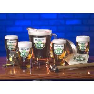 Personalized Traditional Irish Pub 20 oz. Glasses   Set of