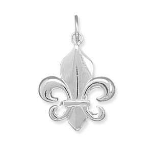 Polished Fleur  De  lis Charm Measures 23x17mm   JewelryWeb Jewelry