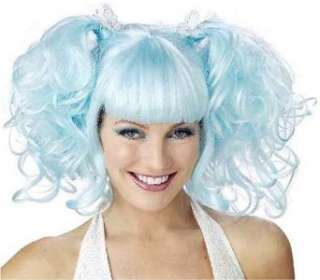 Baby Blue Pixie Gothic Fairy Costume Wig Clothing