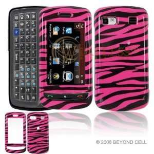 LG Xenon GR500 Cell Phone hot Pink/Black Zebra Design Protective Case