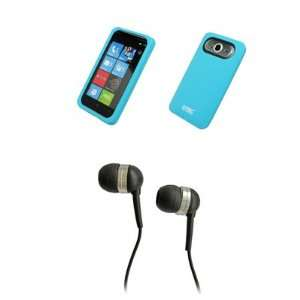 EMPIRE Light Blue Silicone Skin Cover Case + Stereo Hands