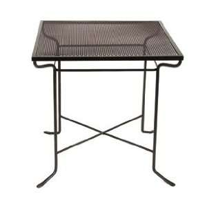 Iron Decorative Outdoor Patio Square Wrought Iron Metal Table Patio