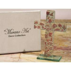 Murano art deco collection standing glass cross  Kitchen