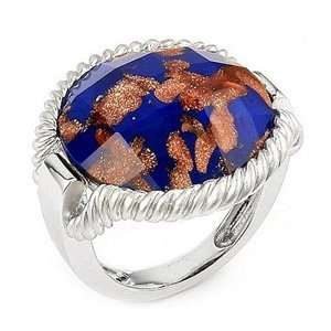 Copper Colored Millefiori Murano Glass Ring SeaofDiamonds Jewelry