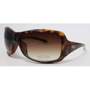 Kenneth Cole Reaction Sunglass Tortoise Wrap Fashion Plastic, Brown