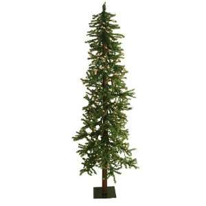 6 Pre Lit Two Tone Alpine Artificial Christmas Tree