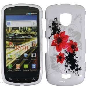 Red Lily Flower Design Snap on Hard Skin Shell Protector