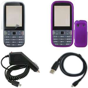 Samsung Gravity TXT T379 Combo Rubber Purple Protective Case Faceplate