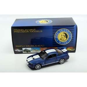 Franklin Mint 1/24 2007 Shelby GT 500 Coupe Blue  Toys & Games
