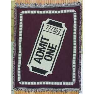 Admit One Home Theater Throw Blanket