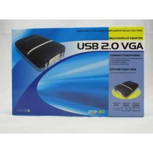 USB 2.0 to DVI/VGA/HDMI Adapter (Link up to 6 Displays) Electronics