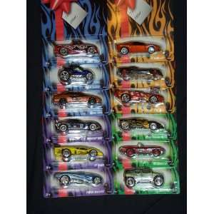 Hot Wheels 2007 Holiday Gift Card COMPLETE SET OF ALL 12