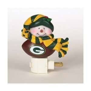 SC Sports Green Bay Packers Snowman Night Light  Set of 2